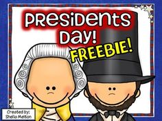 """Help your students celebrate our great leaders for Presidents Day with these print and go FREEBIES! Includes: Presidents Day original poem (color and black/white versions), Presidents Day ABC order (color and black/white versions), Making Words printable activity """"PRESIDENTS DAY"""" and Make a List! printable activity """"What Makes a Good President?"""" #presidentsday #winter"""