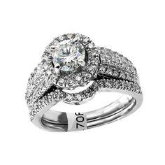 14k White Gold 1.60ctw Brilliant Cut Diamond Ring | Portero Luxury  Yes Please!!! #porteromostwanted