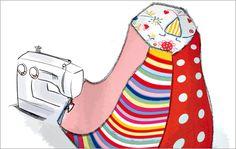 Illustration Sitzsack verschließen