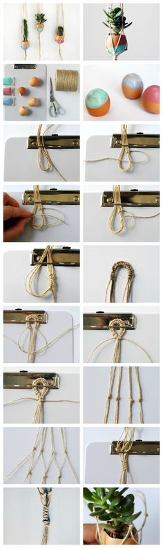see for macrame tips...might wanna make larger...bright yarn or twine