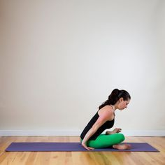Sitting at a desk all day makes for tight hips, which can lead to an achy lower back, so this effective hip-opener is a must.