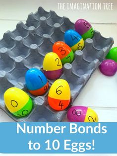 Number Bonds to 10 Egg Match Game! Number Bond Games, Number Bonds To 10, Easter Activities, Math Activities, Number Bonds Activities, Maths Games Ks1, Maths Eyfs, Nursery Activities, Teaching Numbers