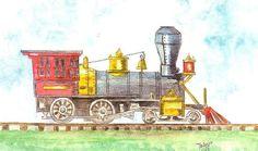 Art Print for Kids of Original Watercolor by ValerieNusbaumAandD, $15.00