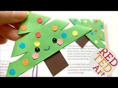 6 Christmas Corner Bookmark Designs - DIY Kawaii Bookmarks for Christmas - YouTube