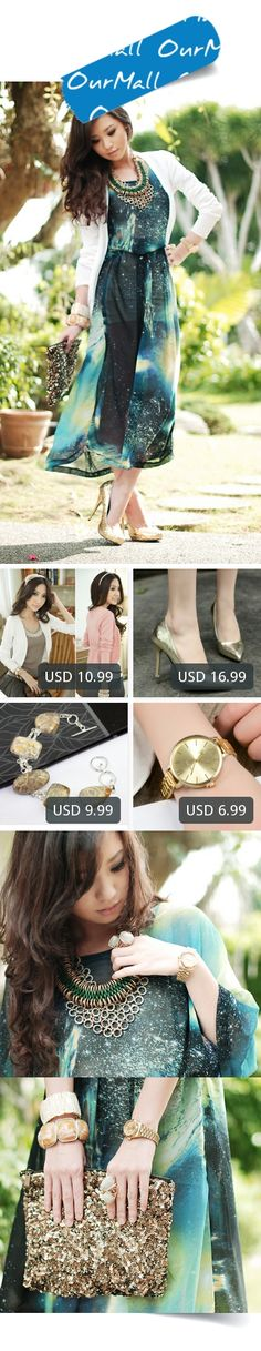 This is Kryz Uy's buyer show in OurMall;  1.New Fashion 2017 Women Spring Autumn  Cardigans Black Pink White Gray Loose 2.Autumn Women Shoes Sequined Pumps Pointed Toe Thin Heel Boat Shoes Woman High heels Pump Gold 3.Fossl Coral Bracelet  Silver Overlay over Copper , 22... please click the picture for detail. http://ourmall.com/?EB7zea  #dress #dressbridesmaid #dresswedding #mididress #dresscute #floraldress #sundress #stripedress #sexydress #elegantdress