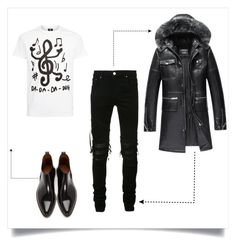 """""""Inspired by Music"""" by shaynamaidel ❤ liked on Polyvore featuring Givenchy, AMIRI, PS Paul Smith, men's fashion and menswear"""