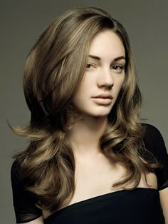 Corte pelo a capas largas Beauty Fashion Pinterest Hair