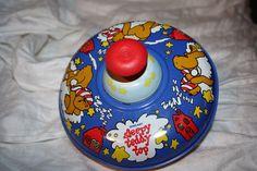 "The Ohio Art Toy Co Vintage 7"" Sleepy Teddy Bear Spinning Mechanical Top Tin Toy | eBay"