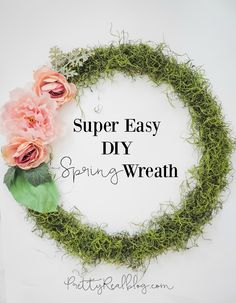 Easy DIY Moss Wreath