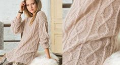 Pull long beige à torsades Pull Torsadé, Pull Jacquard, Pull Long, Beige, Cable Knit Sweaters, Knitting Patterns Free, Pulls, Pullover, Clothes