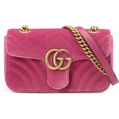 97781a7e2b308c Gucci Gg Marmont Velvet Mini Bag (430 KWD) ❤ liked on Polyvore featuring  bags