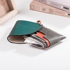 Handmade leather vintage cute women short wallet clutch coin purse wal Evergiftz