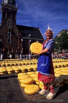 netherlands people | Stock Photo - NETHERLANDS, ALKMAAR, CHEESE MARKET, GIRL IN TRADITIONAL ...