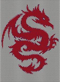 Драконы (мозаика, кирпичик)   biser.info - всё о бисере и бисерном творчестве