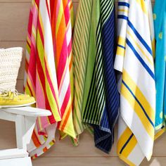 Oversized beach towels are perfect for sharing (or sprawling).