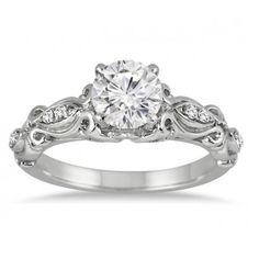 e92186e5584 Delightful Antique Wedding Ring Carat Round Cut Diamond on Gold. Jeen Jewels