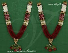 Synthetic jasmine Rose garlands maala Wedding garland Artifical Mala Indian
