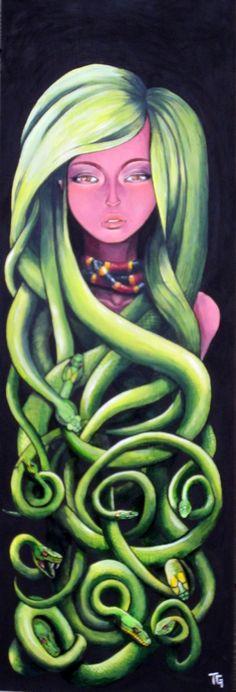 Pandora Jewelry OFF!>> Medusa trace-s-art Medusa Hair, Medusa Gorgon, Medusa Tattoo, Greek Creatures, Mythical Creatures, Tracing Art, Turn To Stone, Street Art Graffiti, French Art