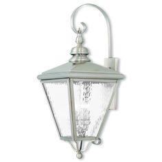 Livex Lighting Cambridge Brushed Nickel Outdoor Wall Lantern 2036-91