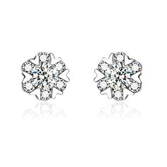 CIShop Hearts of Love S925 Sterling Silver Diamond Stud Earrings Hypoallergenic *** Visit the image link more details.
