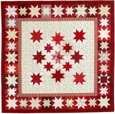 Anniversary Stars quilt designed by Judy Martin and made by current and former staff of Quilter's Newsletter. The pattern was in the October/November issue.