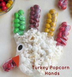 With only a few things needed to make them, these Turkey Popcorn Hands are super easy to make and just look at how cute they are.