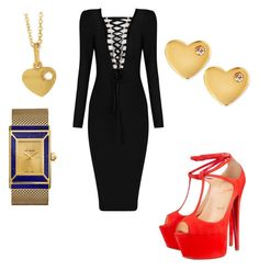 """#office day"" by queen-of-spadesxoxo on Polyvore featuring Christian Louboutin, Tory Burch, Sydney Evan and Irene Neuwirth"