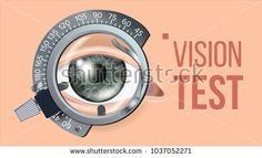 Eye Test Banner Vector. Vision Correction. Optometrist Check. Trail Frame. Exam Illustration