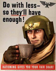 Do with less by SuperNinjaNub on DeviantArt Warhammer 40k Emperor, Warhammer 40k Memes, Warhammer Art, Warhammer 40000, Imperial Guardsman, Wargaming Terrain, 40k Terrain, 40k Imperial Guard, Model Hobbies