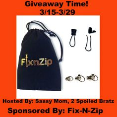 This giveaway is for Fix-N-Zip . It goes live on 3/15 and ends on 3/28 at 11:59pm   Bargain Hound Daily Deals