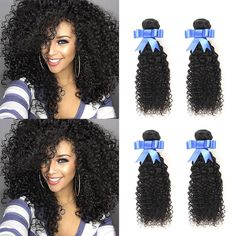 Brazilian Virgin Curly Hair Weave 4 Bundles 7A 100% Unprocessed Human Hair Extensions Natural Color by Lovenea(8 8 8 8) >>> This is an Amazon Affiliate link. Click on the image for additional details.