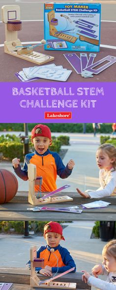 They shoot, they score—with our Basketball STEM Challenge Kit! Kids will love exploring gravity, balance and more! Steam Learning, Force And Motion, Stem Steam, Stem Challenges, Exploring, Basketball, Student, Kit, Baseball Cards