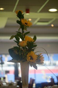 sunflower tall vases