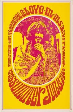 Robert Wendell ~ artist  there is going to be a love-in in San Francisco this summer June 21st        poster      work on paper    1967