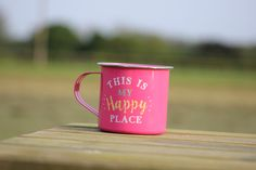 Happy place camping mug