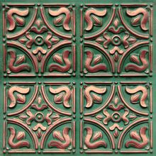 """Tiny Tulips - Faux Tin Ceiling Tile - Glue up - 24""""x24"""" - #148"""