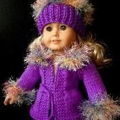 """simple KNITTING PATTERN for 18"""" dolls    - via @Craftsy"""