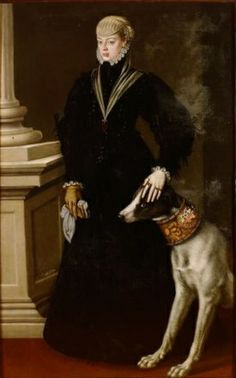 Joanna of Austria - Princess of Portugal. Daughter of Charles V and Isabella of Portugal. She married Joao Manuel of Portugal and had one son Sebastian of Portugal. Sister to Philip II of Spain and Empress Maria of Austria. Renaissance, Greyhound Kunst, Austria, Charles Quint, 1500s Fashion, Joanna Of Castile, Francois Xavier, Tudor Era, Aragon