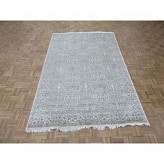 Wool and Tone on Tone Tabriz Hand-knotted Rug
