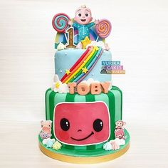 Images about #cocomeloncake on Instagram Baby Boy 1st Birthday Party, 2nd Birthday Party Themes, 1st Birthday Decorations, Baby Birthday Cakes, Birthday Ideas, Bubble Guppies Birthday, Happy 1st Birthdays, Cake Boss, Abayas