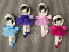 Ballerina Ribbon Sculpture Hair Clip Choice of by EllaBellaBowsWI