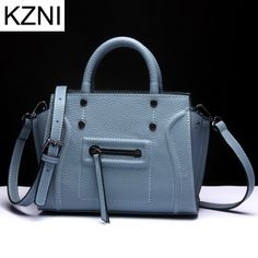 54.21$  Watch now - http://alij2r.worldwells.pw/go.php?t=32783846836 - KZNI genuine leather crossbody bags for women designer handbags high quality women messenger bags bolsas femininas L121802 54.21$