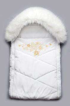 Нежный конверт для новорожденного на выписку с опушкой купить в Москве, Санкт-Петербурге, Белгороду, Екатеринбурге