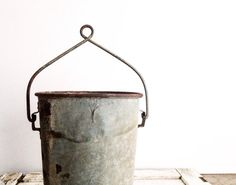 Rustic Farmhouse Vintage Metal Water Well by pippamarxstudio, $25.00