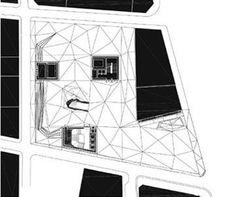 Caixa Forum Ground Floor plan drawing - Herzog & de Meuron: