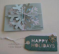 Simply Snowflake Paper Pumpkin Kit made per instructions #stampinup #paperpumpkin