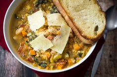 Tuscan Bean Soup - made 6.21.15; delicious!  Did not have squash; added potato.  Used kale from garden.  Added the usual garlic, onion powders & Jane's Crazy Salt.  SBC