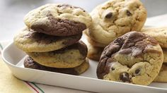 Two cookies are better than one! Try these doubly delicious cookies made with Betty Crocker® cookie mix. Bacon And Butter, Butter Cheese, Double Chocolate Cookies, Chocolate Cookie Recipes, Betty Crocker Cookie Mix, Dough Ingredients, Delicious Cookies, Baked Goods, Cooking Recipes
