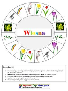 Wiosna - plansza do gry Asd, Kids House, Education, School, Children, Spring, Science, Speech Language Therapy, Therapy