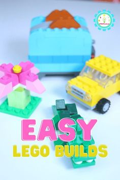 If you enjoy making easy LEGO creations, then you'll love this idea list of easy things to build with LEGOs! Easy Science Projects, Fun Projects For Kids, Lego For Kids, Lego Projects, Science Experiments, Lego Activities, Educational Activities For Kids, Easy Lego Creations, Used Legos
